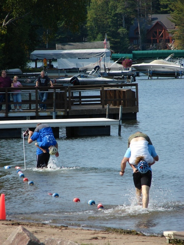 More Wife Carrying pics racing through the water