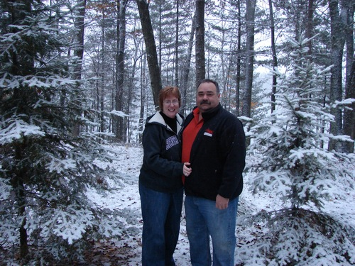 Mike and Jean enjoying Christmas Snow as they called it
