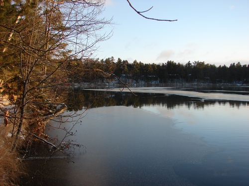 Ice Creeping across the lake