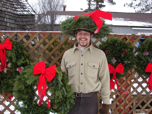 See Steve for your Christmas Wreath or Christmas Hat