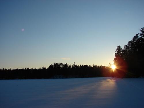 Sunset at -10
