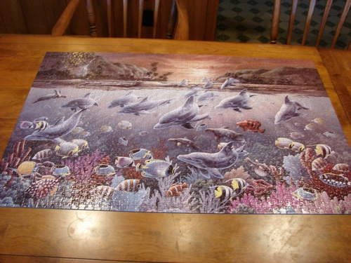 1st 2,000 piece puzzle completed