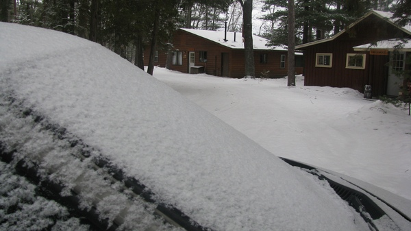 More light snow last night