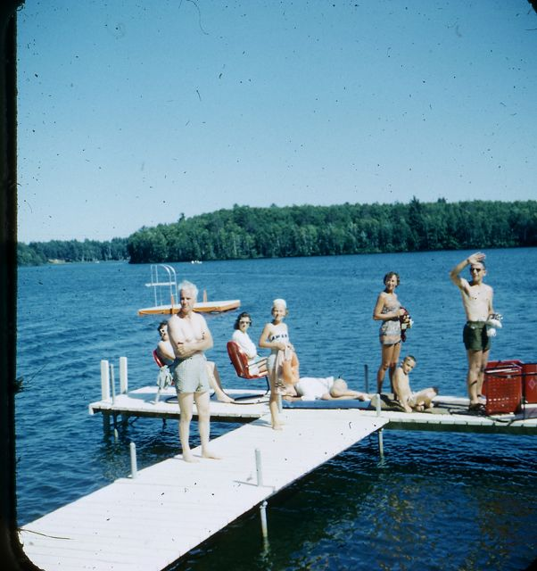 1958 Guests on dock