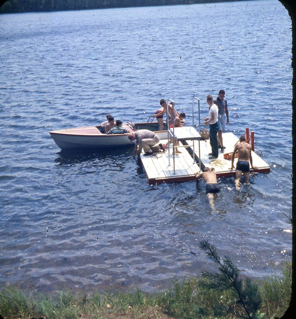 1958 pushing raft out