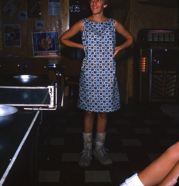 1961 Janet Andersch in rec room