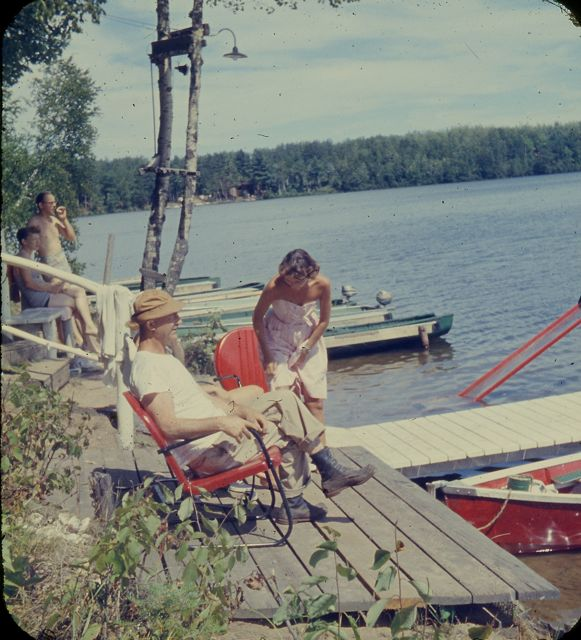 1958 L Rambo on dock